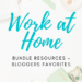 work at home bundle resources graphic