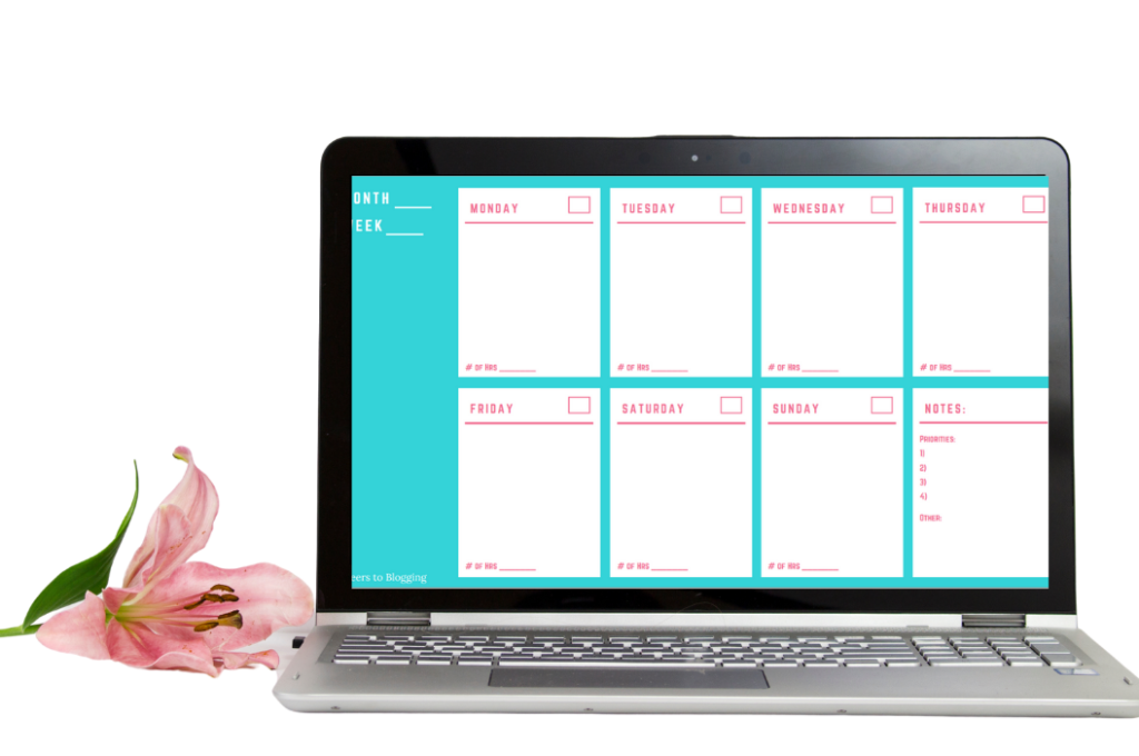 weekly calendar from ebms bundle