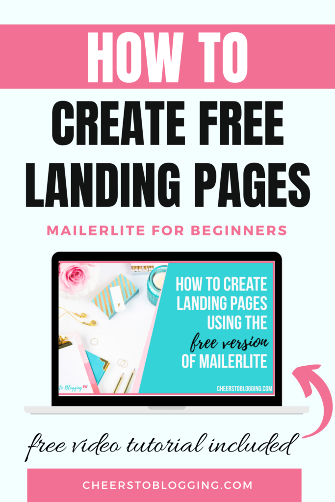 how to create free landing pages mailerlite