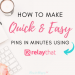 how to make quick and easy pins with relaythat