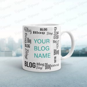 customizable blog mug as a gift idea for bloggers