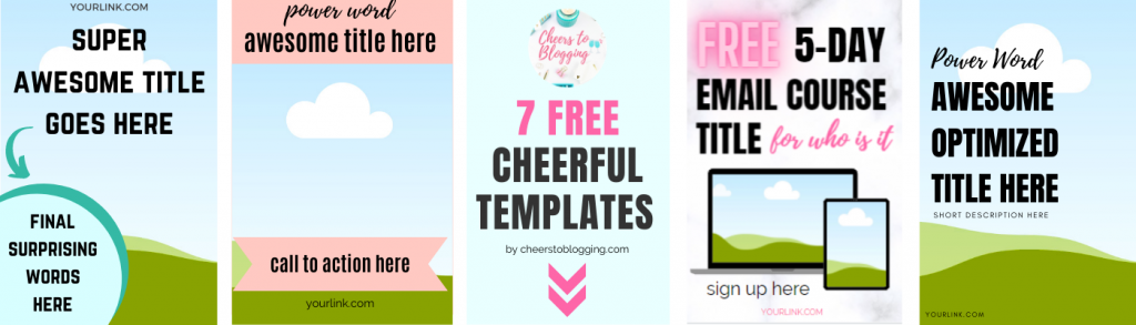 free canva pin templates by cheers to blogging