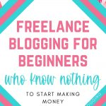 freelance blogging for beginners