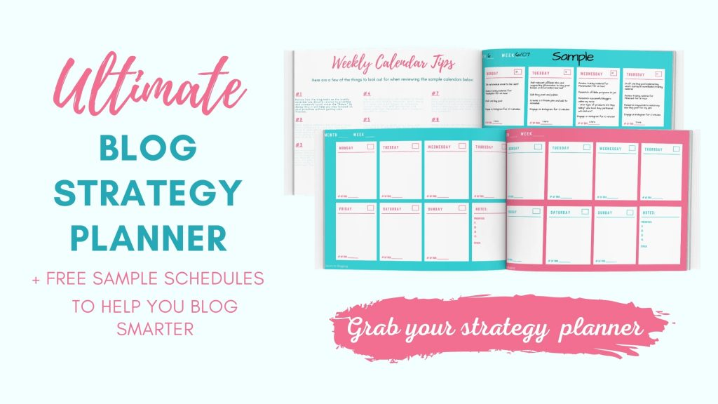 strategy blog planner