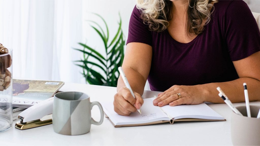 woman brainstorming her ideal target audience