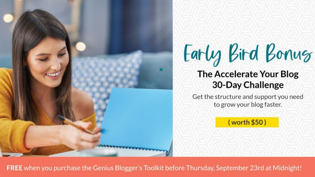 genius bloggers toolkit early bird bonuses