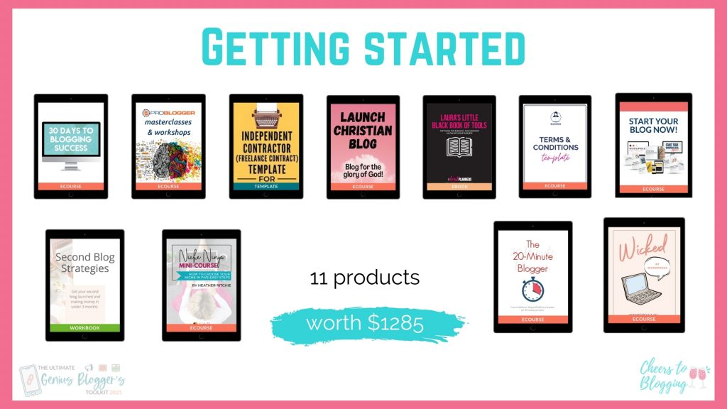 genius bloggers toolkit getting started products