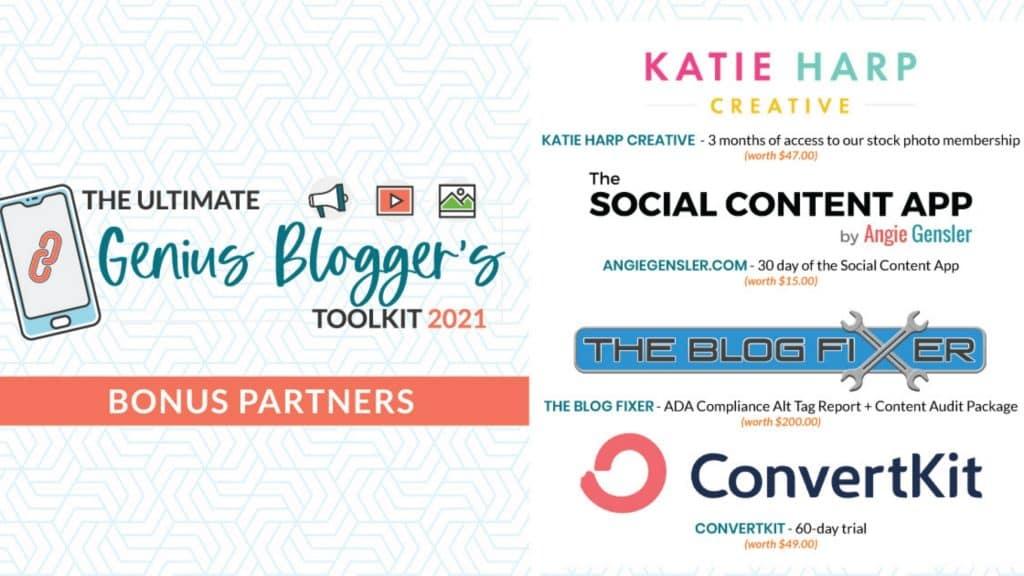 genius bloggers toolkit bonuses