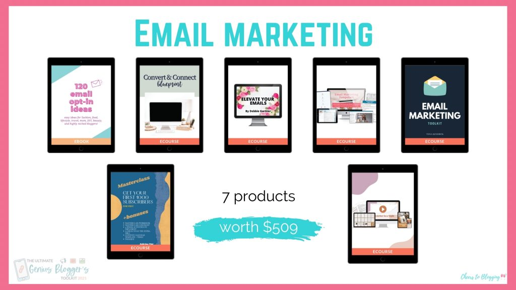 genius bloggers toolkit email marketing products